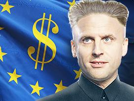 Sticker politic kim jong emmanuel macron micron europe neo liberal neoliberal neoliberalisme neoliberale pognon dollar euro argent ue ue gope