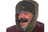 Sticker risitas jvc rire dent costard russe russie chapka urss moustache