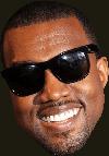 Sticker other kanye west rappeur amerique americain usa visage sourire lunettes classe bg