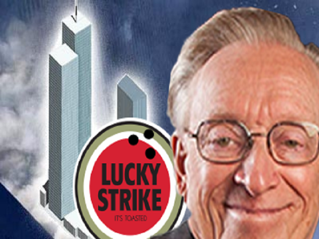 Sticker risitas larry silverstein la chance 2 avions 3 tours lucky larry lucky strike