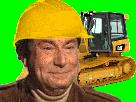Sticker risitas jesus chantier btp travaux bulldozer
