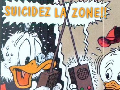 Sticker politic suicide zone picsou licra