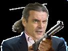 Sticker politic suisse freysinger fusil droite