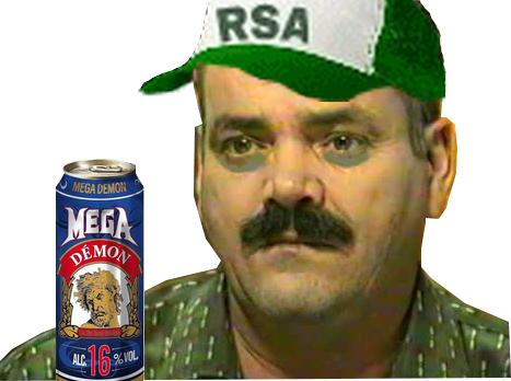 Sticker risitas jeune triste rsa mega demon biere clochard alcool