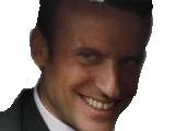 Sticker politic macron jeune dynamique sourire sournois