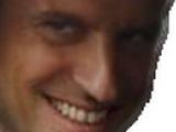 Sticker politic macron sourire sournois zoom