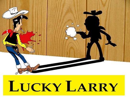 Sticker other larry silverstein lucky luke ombre tire pistolet la chance bd