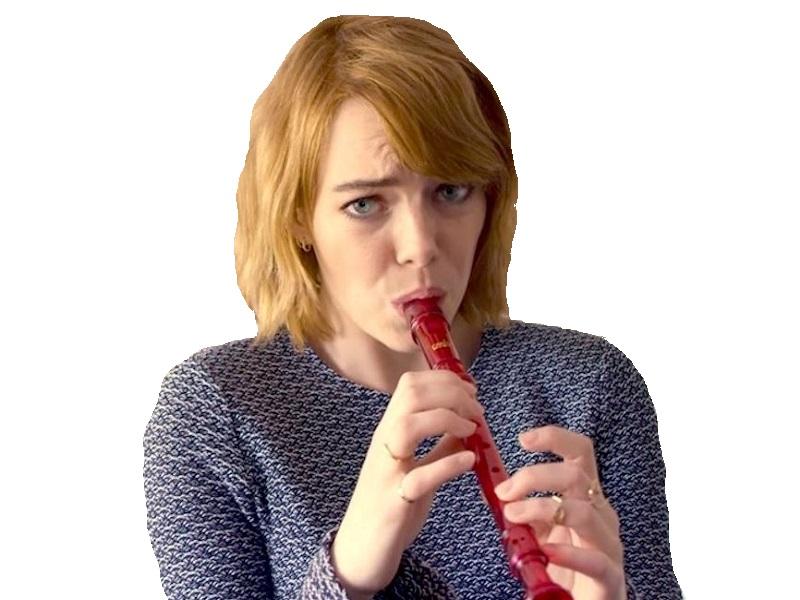 Sticker other emma stone flute pipo mensonge pipe musique