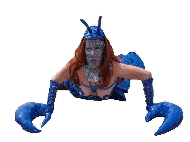 Sticker other mere auteur femme crabe decadence bleu plage ete