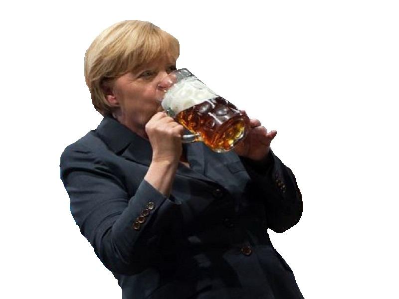 Sticker politic merkel biere allemagne
