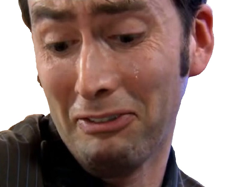 Sticker other doctor who tennant pleure triste