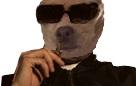 Sticker alkadoge alkapote chien