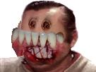 Sticker risitas jesus gore sang blessure demon enfer oeil yeux satan horrible abomination creature horrible purgatoire esprit fantome mort dent buccale maladie