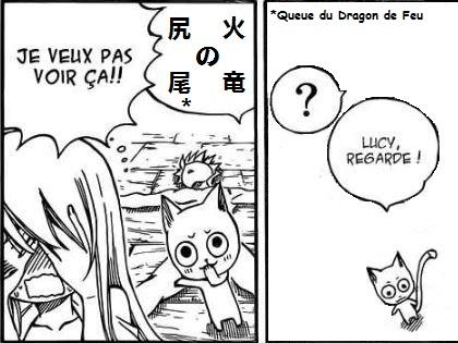 Sticker fairy tail technique secrete queue bite du dragon de feu nudite fan service fanservice natsu lucy happy
