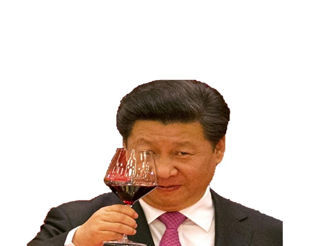 Sticker politic xi jinping chinois vin