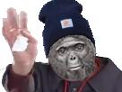 Sticker risitas ok papier macaque