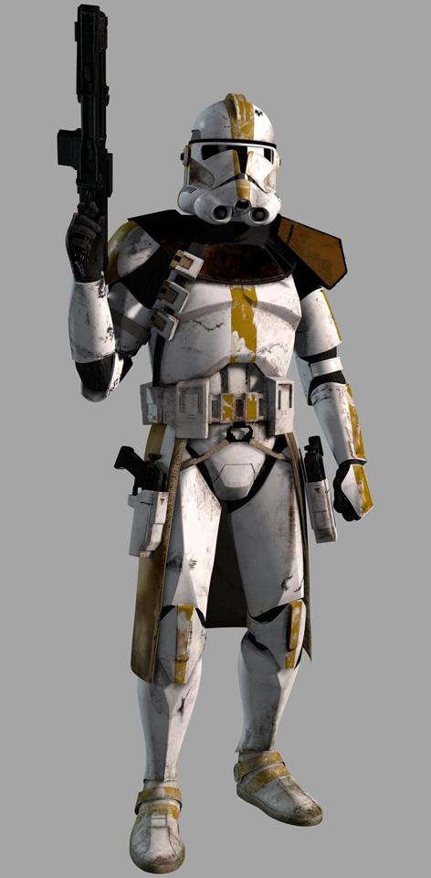 Sticker other star wars republique clone soldat commandant