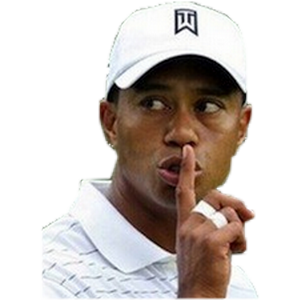 Sticker other golf tiger woods chut shhhh