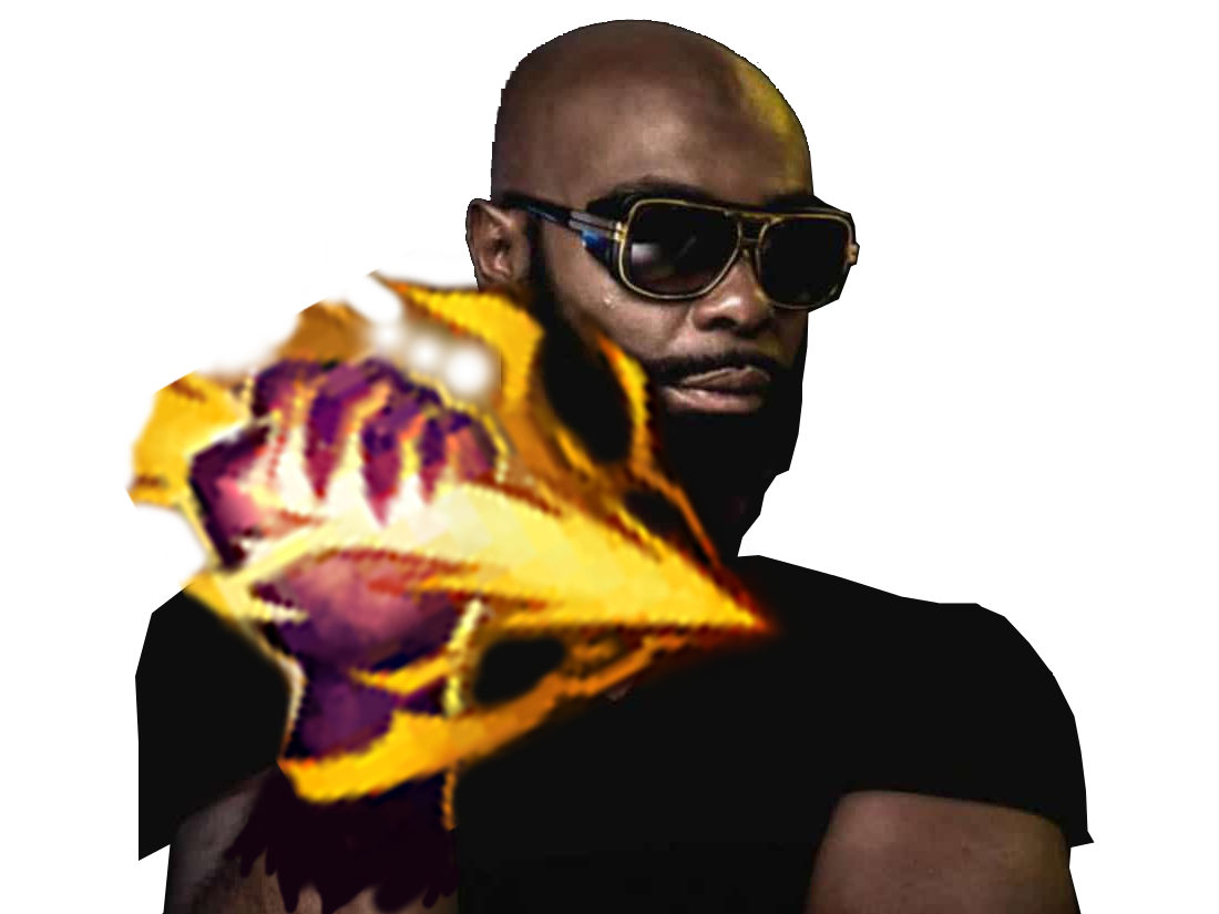 Sticker other kaaris rappeur puteuh black noir tshirt doigt bras lunettes soleil sunglasses barbe beubar bebar smite chatiment league of legends lol mmorpg moba tinnova