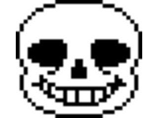 Sticker other undertale sans squelette