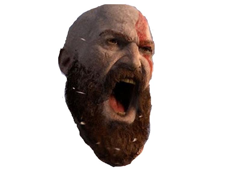 Sticker risitas kratos barbe beubar algerien jeux ps4 sony deter god of war 4
