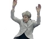 Sticker politic theresa may ola celebration joie danse