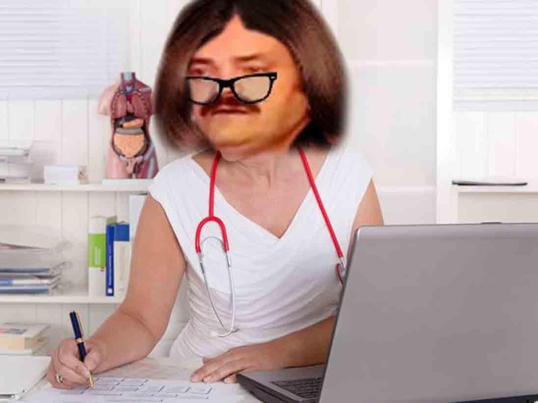 Sticker risitas medecin docteur femme cabinet bureau