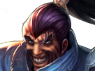 Sticker other league of legends lol champion samurai samourai yasuo hasagi yasou yassou yassuo draven sourire mechant sadique dent moustache barbe noxus rapeface