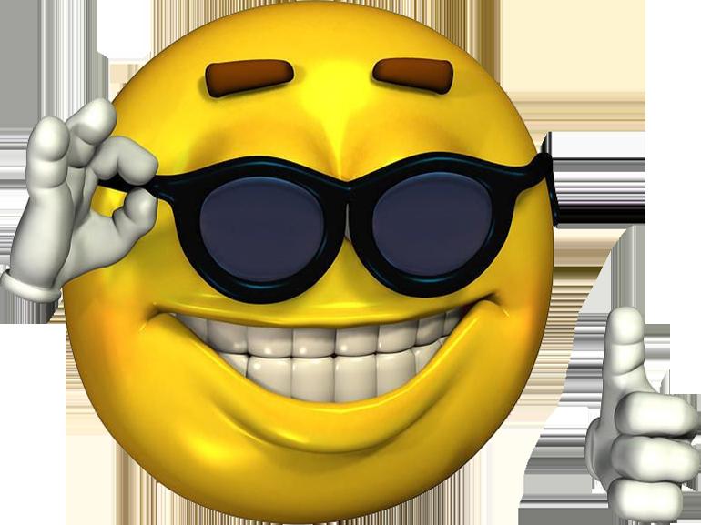 Sticker other smiley jaune lunette d
