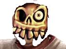 Sticker medievil squelette mort vivant yeux risitas jesus devil enfer demon horrible creature abomination