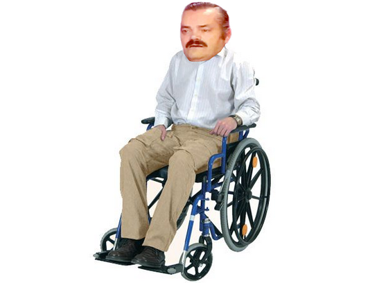 Sticker risitas handicape fauteuil malade casse vieux