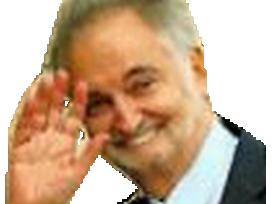Sticker politic jacques attali lapin dents hibou main complot juif faceapp