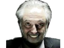 Sticker politic jacques attali dark sombre sasuke dents psychopathe pervers fou hibou complot juif faceapp