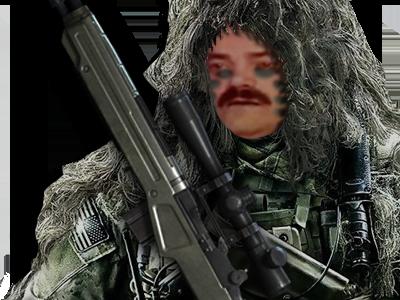Sticker risitas sniper camouflage