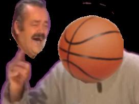 Sticker risitas basket doigt ballon inverse