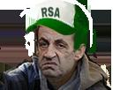 Sticker risitas sarkozy president rsa prolo sdf