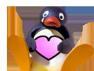 Sticker other pingu coeur mignon