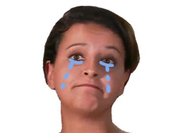 Sticker politic najat vallaud belkacem gauche gauchiasse larmes