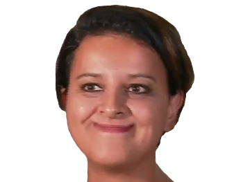 Sticker politic najat bouche tordue sourire force content