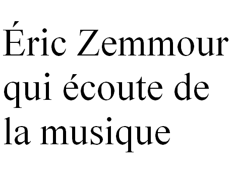 Sticker other zemmour eco texte musique melomane
