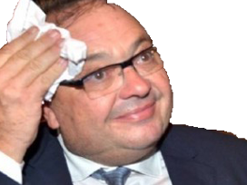 Sticker politic patrick mennucci porc sueur