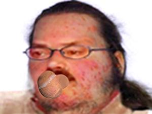 Sticker jvc dechet couilles bouche