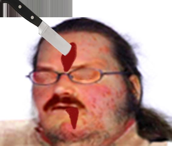 Sticker jvc dechet pere sang couteau meurtre tuer mort victime