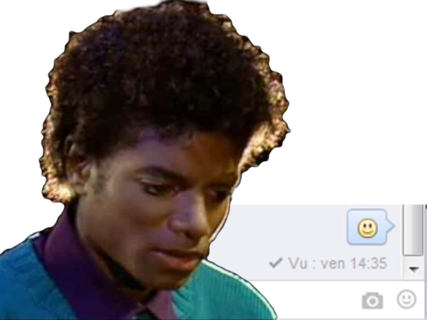 Sticker jvc risitas vent friendzone vu facebook message reponse tristesse rateau vu michael jackson mjj chanteur musique music pop dance rire sourire smile rock issou