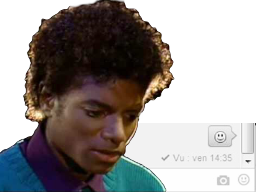 Sticker jvc risitas vent meuf facebook message reponse vu friendzone michael jackson mjj chanteur musique music pop dance rire sourire smile rock issou