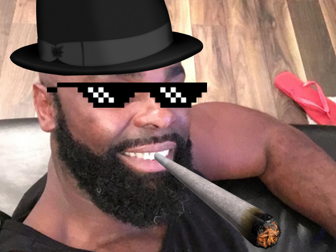 Sticker other kaaris mlg chapeau pilon weed rap
