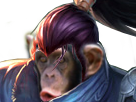 Sticker other league of legends lol yasuo champion hasagissou singe macaque bonobo chimpanze tinnova