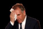 Sticker politic francois bayrou sueur