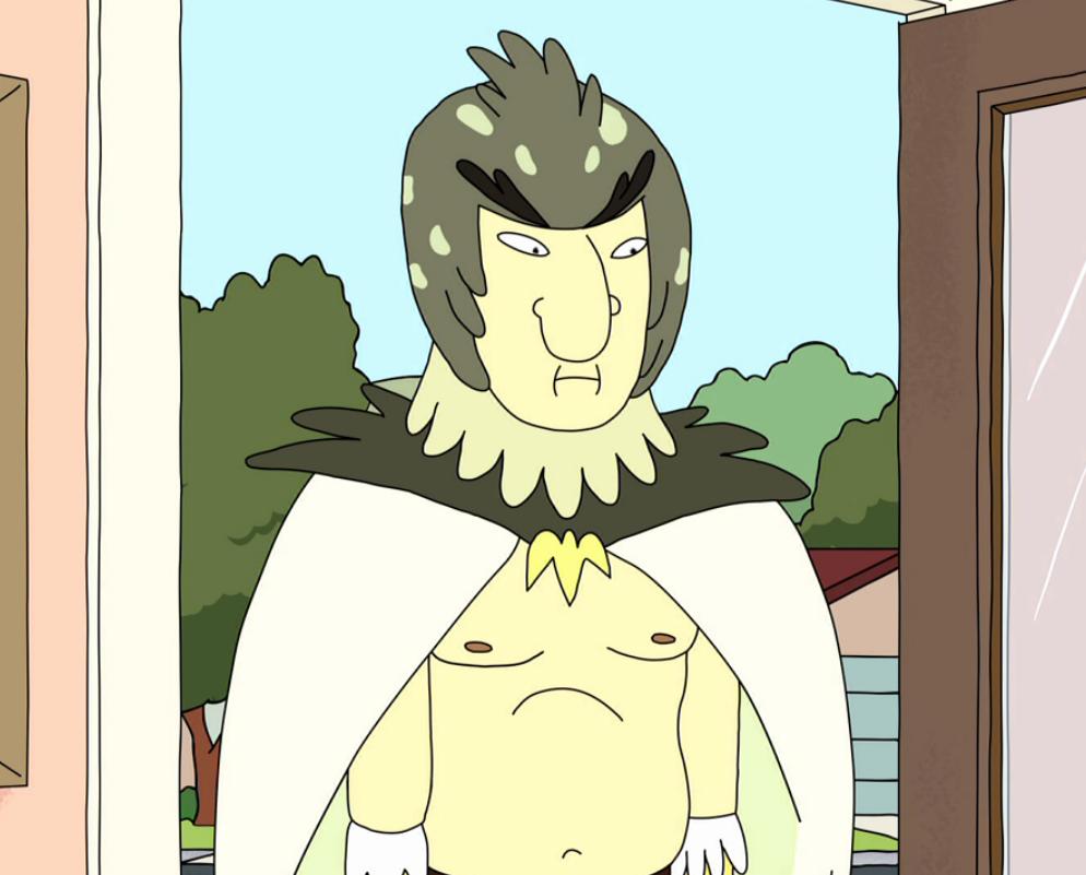 Sticker other rick morty birdperson