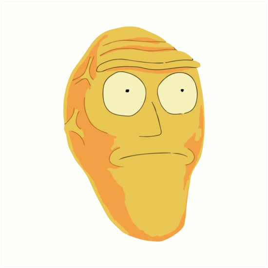 Sticker other rick morty tete